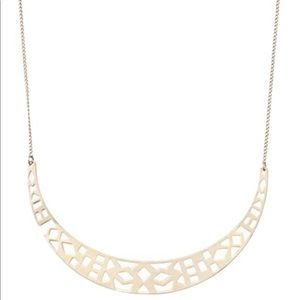 Stella & Dot- Avalon crescent necklace